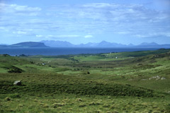 Eigg and Skye, from Ardnamurchan.