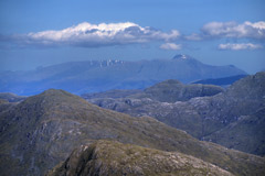 Aonach Mór, Carn Mór Dearg, Ben Nevis and Carn Dearg, from the summit of Sgurr na Ba Glaise.