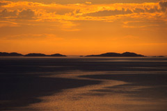 Sunset over the Summer Isles, from Rubha Cadail, near Rhue.