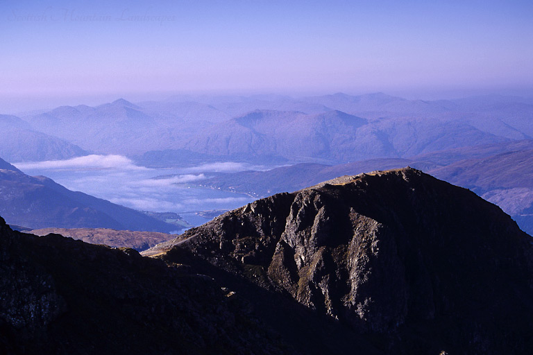 Looking north-west from the summit of Bidean nam Bian over An t-Sròn.