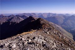 Looking east from Bidean nam Bian, over Stob Coire Sgreamhach and Glen Etive.
