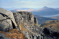 Ben Lomond and Loch Lomond, from The Spearhead, Beinn Narnain.