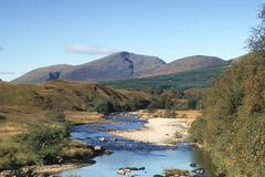 Beinn Chuirn, from the River Cononish at Dalrigh.