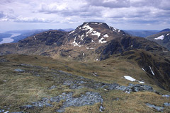 Cruach nam Miseag, Beinn Narnain and Creag Tharsuinn, from the summit of A'Chrois.