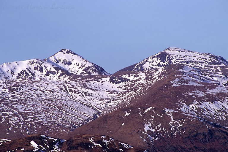 Stob Binnein and Ben More, from the summit of Benvane.