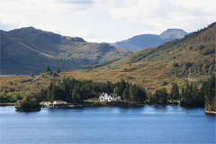 Looking south-west across Loch Katrine, from Coilachra to Stronachlachar.