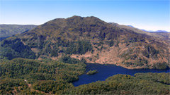 Ben Venue and Loch Katrine, from Ben An.