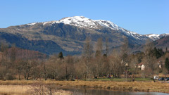 Ben Ledi, from the River Teith, Callander.