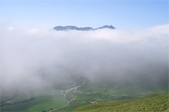 The summit of Stob a'Choin above the clouds, from Stob Invercarnaig.
