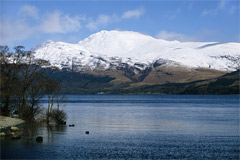 Ben Lomond, from the west side of Loch Lomond.