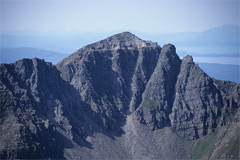 The Northern Pinnacles of Mullach an Rathain, from Spidean a' Choire Lèith.