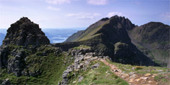 Liathach: Am Fasarinen and Mullach an Rathain.